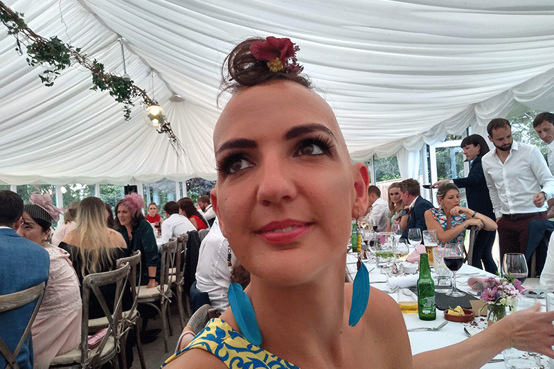 Mohawk style at wedding