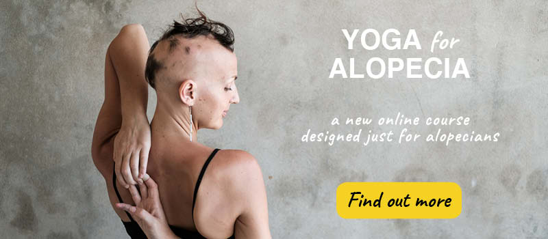 Yoga for alopecia advert