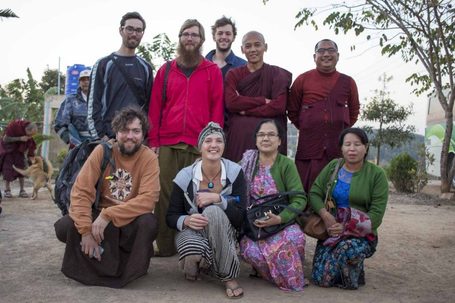 With meditators at ThaBarWa centre in Myanmar