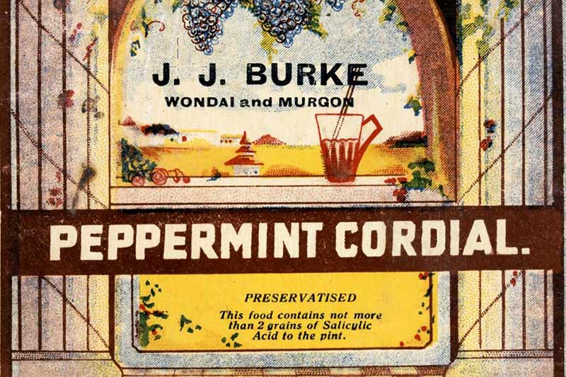 Peppermint cordial poster