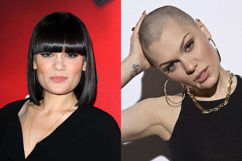 Jessie J rocking a shaved head