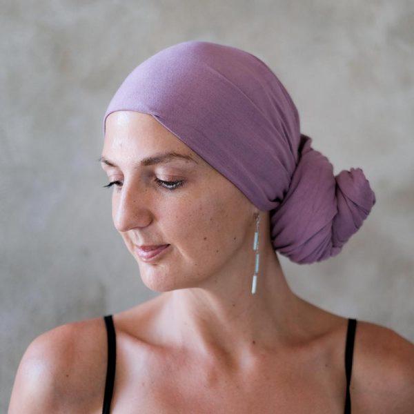 Mauve-Headscarf-Side-Knot