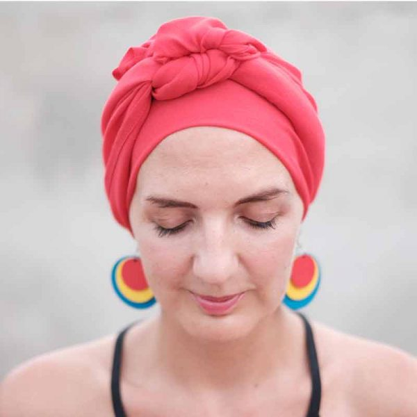 Headscarves for Hair Loss Red Bamboo