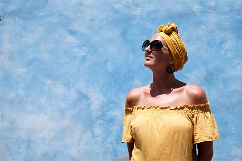 Spanish style headscarf for hairloss