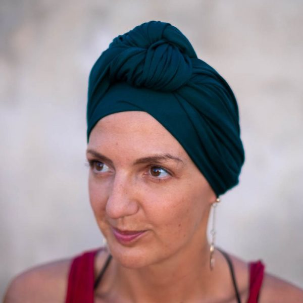 dark teal headscarf