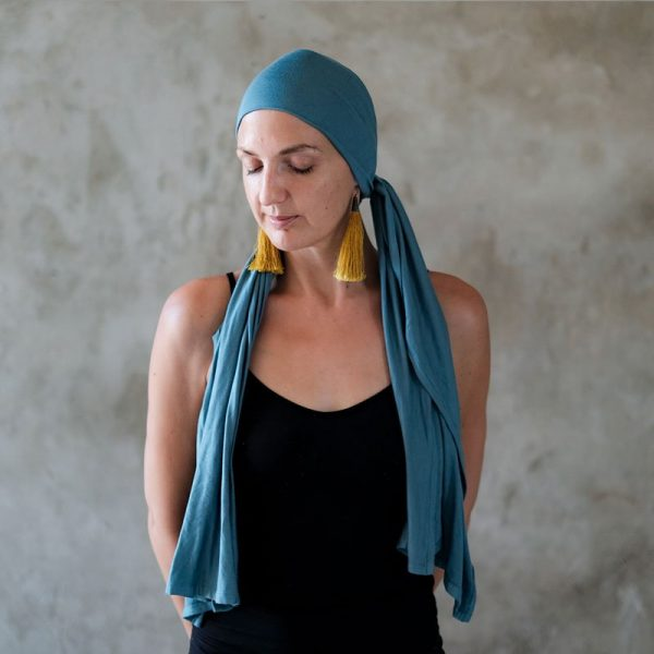light teal jersey headscarf