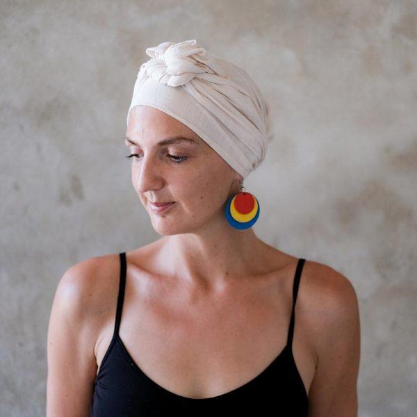 Cream Bamboo Headscarf