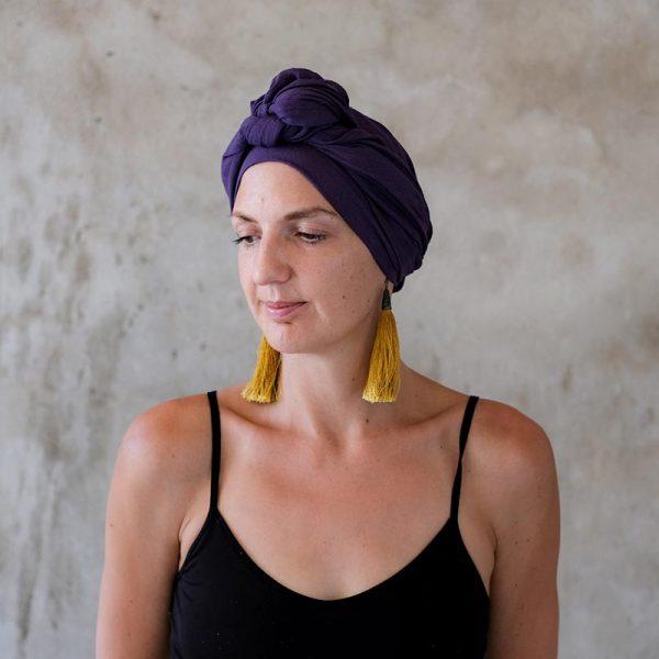 Purple-Headscarf