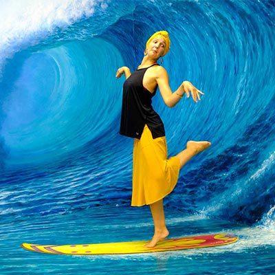 emma surfing